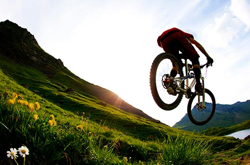 Mountain biking in the French Alps, accommodation
