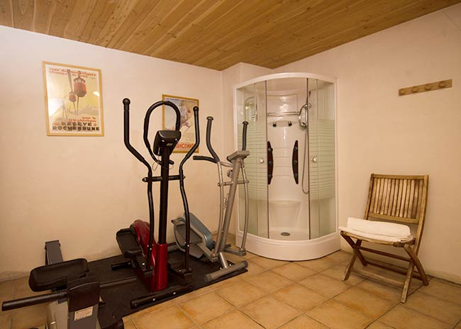 Chalet in Peisey-Vallandry with a gym
