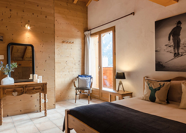 Double room in a chalet in Peisey-Vallandry