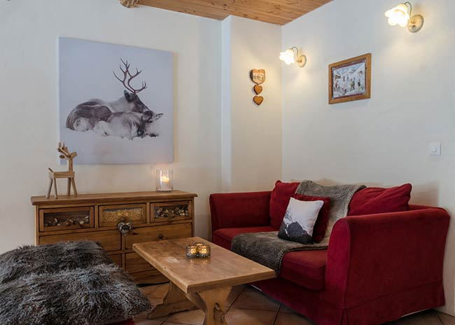 Relaxing area in Peisey-Vallandry ski chalet